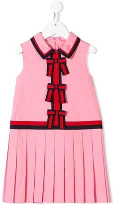 Gucci Kids Lotus pleated dress