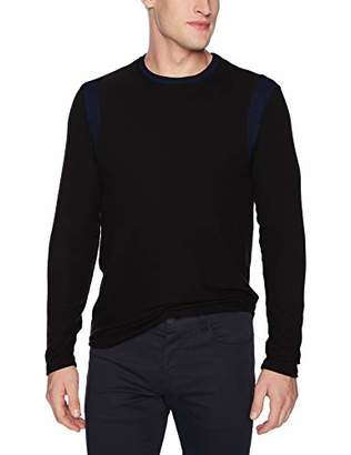 Velvet by Graham & Spencer Kiefer Men's Sweater with Contrast Color Panels