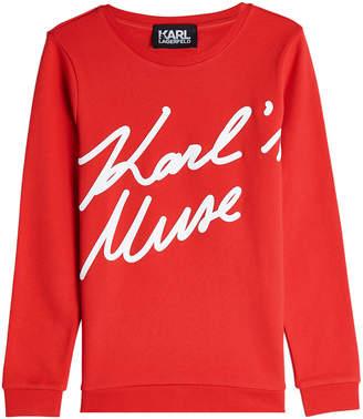 Karl Lagerfeld Karl's Muse Cotton Sweatshirt
