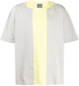 Poliquant panelled T-shirt