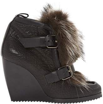 Pierre Hardy Leather mocassin boots
