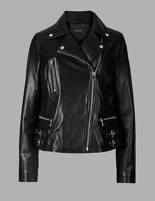 Marks and Spencer Leather Biker Jacket