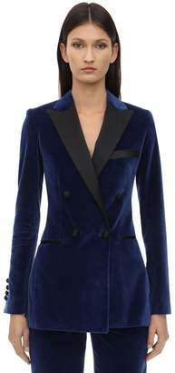 Elie Saab VELVET DOUBLE BREASTED BLAZER