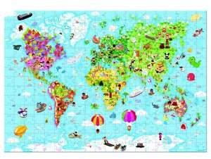 Janod World Map Puzzle& Suitcase