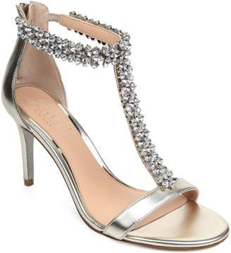 Badgley Mischka Janna Embellished T-Strap Sandal