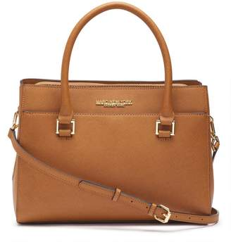 Andrew Marc MANHATTAN SAFFIANO LEATHER SQUARE SATCHEL