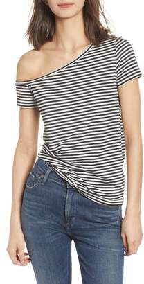n:PHILANTHROPY Dorado Stripe One-Shoulder Tee