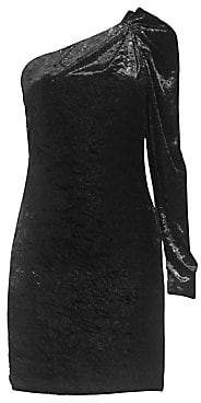 BCBGMAXAZRIA Women's Woven One Shoulder Dress