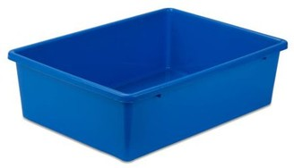 Honey-Can-Do Lightweight Large Plastic Bin, Multicolor