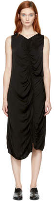 Raquel Allegra Black Liquid Satin Dress