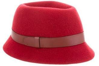 Hermes Leather Trimmed Felt Hat