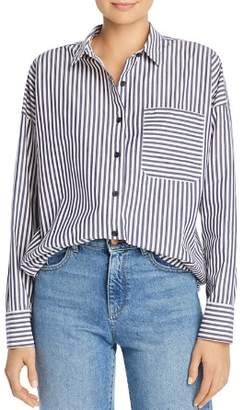 ATM Anthony Thomas Melillo Striped Boyfriend Shirt