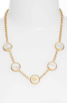 Tory Burch Mother-of-Pearl Station Necklace