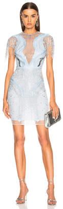 Murad Zuhair Embellished Short Sleeve Mini Dress