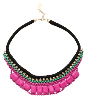 Adia Kibur Bright Rocks Crystal Rope Necklace