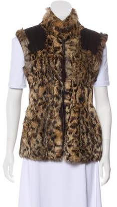 Jocelyn Rabbit Fur Vest