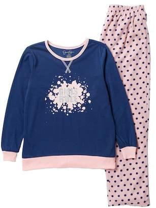 Jessica Simpson Long Sleeve Top & Bottom Pajama Set (Little Girls & Big Girls)
