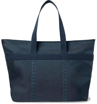 A.P.C. Logo-Print Twill-Trimmed Ripstop Tote Bag 28562eabf5ee2