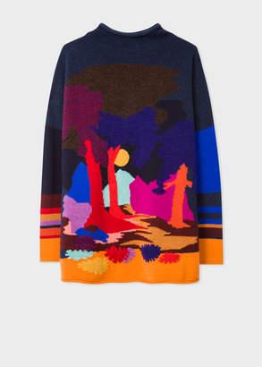Paul Smith Women's Wool-Blend 'Dreamer' Intarsia Wide Neck Sweater