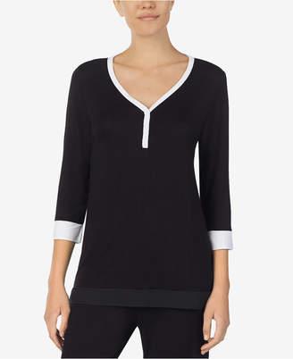 DKNY Colorblocked Pajama Top