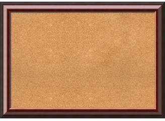 Cambridge Silversmiths Amanti Art Mahogany 41x29 Framed Cork Board