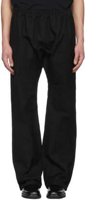 Raf Simons Black Long Elastic Trousers