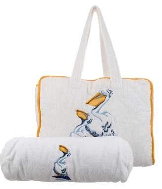 Hermes Pelican Beach Bag w/ Pillow