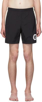 Alexander McQueen Black Solid Skull Swim Shorts