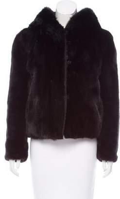 J. Mendel Mink Fur Hooded Jacket