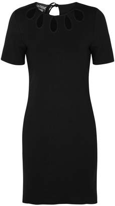 Moschino Black Cut-out Stretch-knit Dress