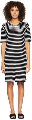 Eileen Fisher Round Neck Knit Linen Dress Women's Dress