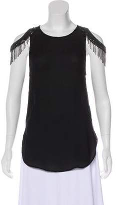Haute Hippie Embellished Silk Top
