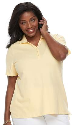 Croft & Barrow Plus Size Johnny Collar Polo