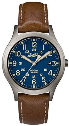 Timex Unisex TW4B11100 Expedition Scout 36 Leather Strap Watch