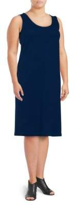 Joan Vass Plus Pique Tank Dress