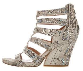 Sigerson Morrison Embossed Caged Sandals
