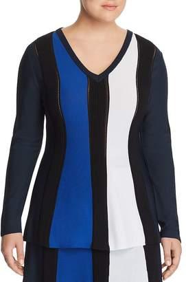 Marina Rinaldi Galleria Color Block Rib Sweater