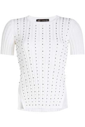 Versace Stud-Embellished Knit Top