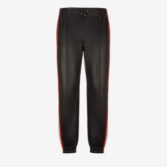 Bally Leather Tracksuit Bottoms