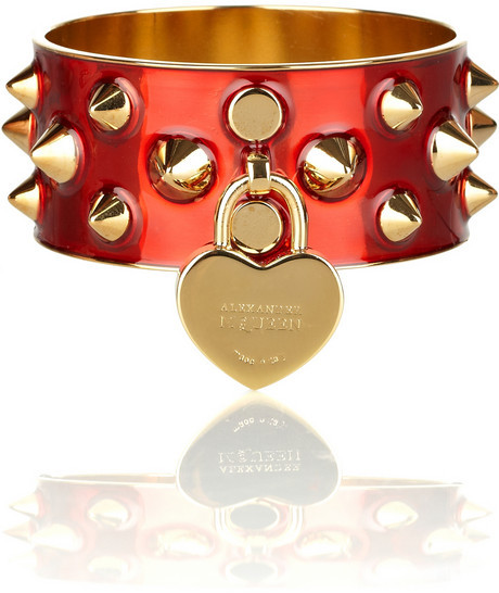 Alexander McQueen Studded metal bangle