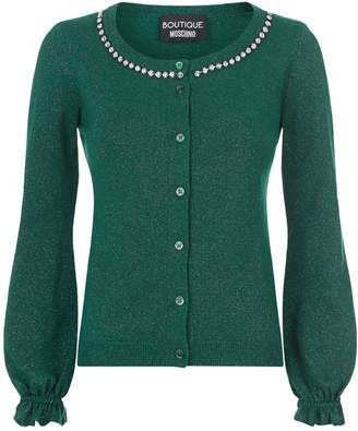 Moschino Diamanté Collar Cardigan