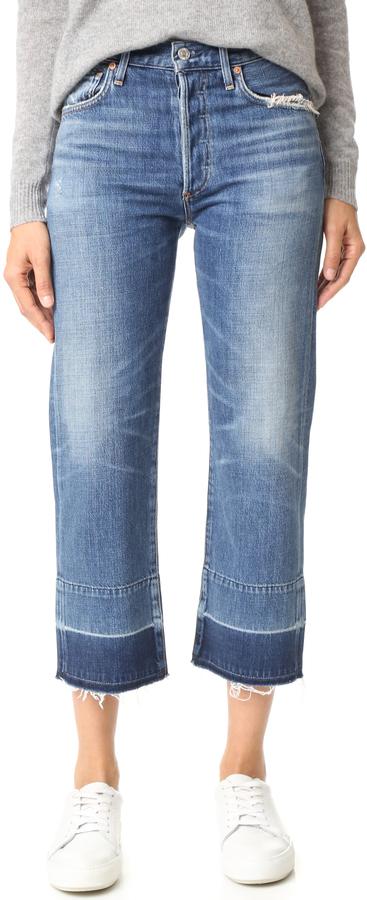 Citizens of Humanity Cora Crop Undone Hem Jeans