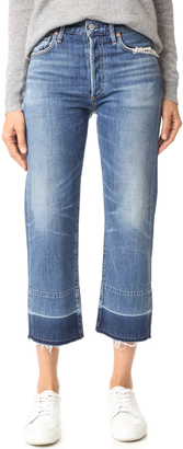 Citizens of Humanity Cora Crop Undone Hem Jeans $278 thestylecure.com
