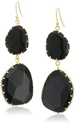 Panacea Genuine Stone Free Form Drop Earrings