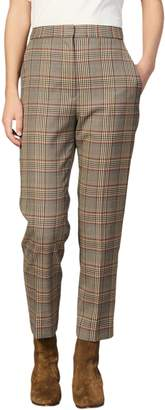 Sandro Stainy Plaid Pants