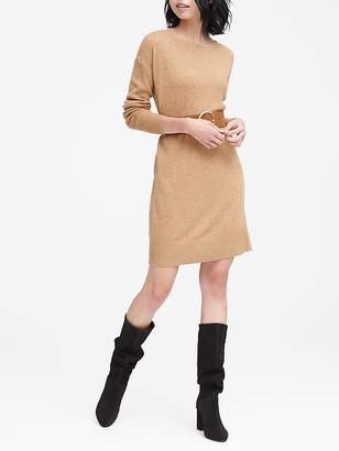 Banana Republic Wool-Cashmere Blend Boat-Neck Sweater Dress