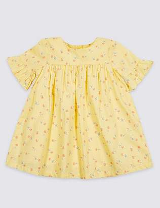 Marks and Spencer Ditsy Floral Print Pure Cotton Baby Dress