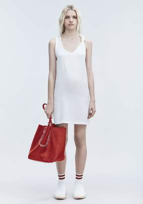 Alexander Wang DRESS WITH RIB KNOT DTAIL