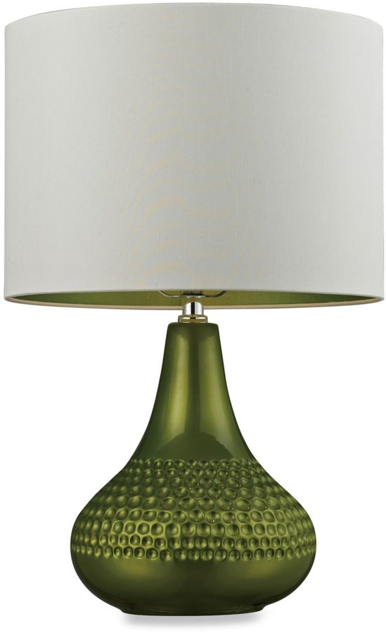 Bed Bath & Beyond Lime Table Lamp with Faux Silk Shade