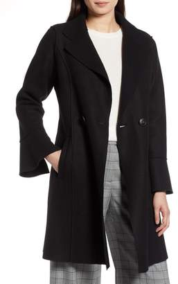 Halogen Raw Edge Bell Sleeve Coat